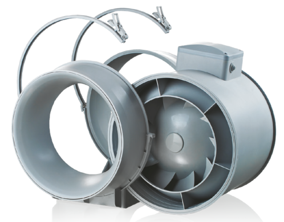 Konstruktion des Ventilators bis Rohrleitung Dalap AP 150 T