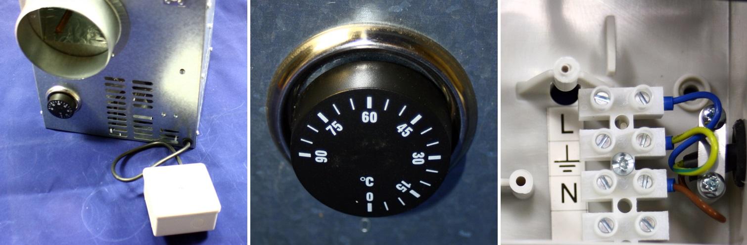 Beispiel der Anschluss des Kaminventilators des Dalap FN 125