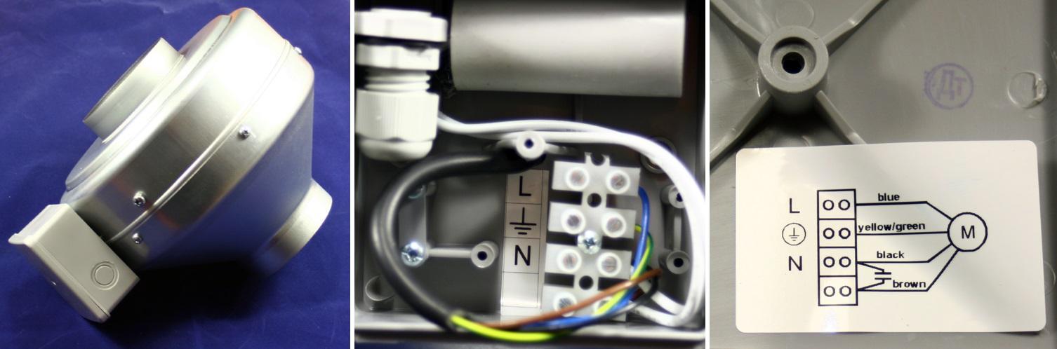 Anschluss des Rohrventilators Dalap TURBINE M 250