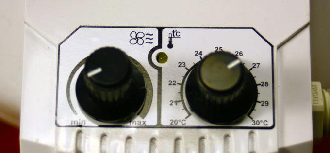 Steuerung des Rohrventilators Dalap TURBINE P 200 T